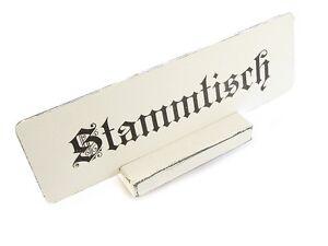 Vintage Shabby Schild STAMMTISCH mit AUFSTELLER Tischaufsteller Tischschild