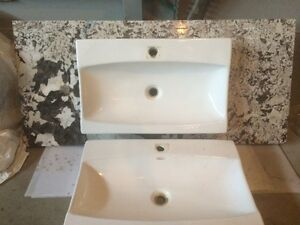 almost new granite vanity top with modern sink=cheap