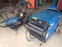 Miller deltaweld dual 852apm Mig Welder watercooled bizel torch Lance 3 phase wire Structual steel