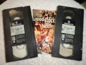 Woodstock 3 Days of Peace & Music 2 VHS Tapes 1970