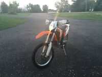 Brand new ktm xc 250 street legal. Blue plated
