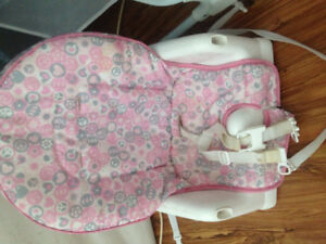 Baby girl high chair seat