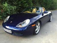 2002 PORSCHE BOXSTER S 3.2 PETROL 6 SPEED MANUAL SPORTS CONVERTBILE