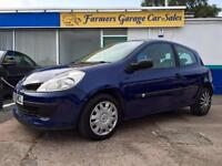 Renault Clio 1.6 VVT ( 111bhp ) auto Expression 73,532 Miles In Blue