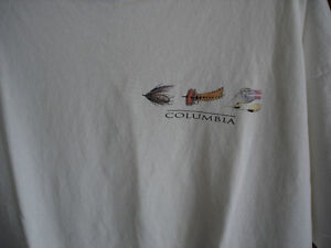COLUMBIA FLY FISHING T SHIRT and VEST