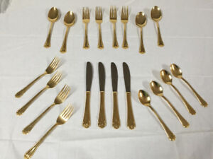 GOLD PLATED CUTLERY FOR SALE