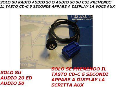 Aux Line Cavo Audio In cable Mercedes Classe A B C CLK...