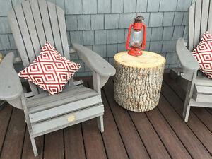 Rondin de bois décoratif