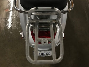Vespa LX Rear Carrier, Pink Top Case, Lockset, GTS mirror