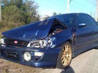 We BUY wrecked crashed etc SUBARU IMPREZA STI STI RA Spec C