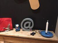 Vintage retro candles ornaments bottle openers lights wedding props door stops