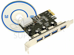 4-Port SuperSpeed USB 3.0 PCI Express Controller VL805-Q6 Card