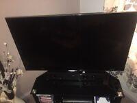 "Samsung 55"" full HD Smart TV with a quad core processor."