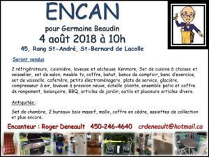 ENCAN - 4 Août 2018 - St-Bernard