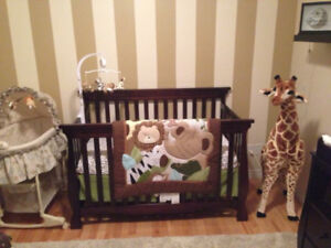 Storkcraft 3 in 1 convertible crib  in espresso