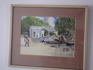 2 water paintings signed C. Stoute