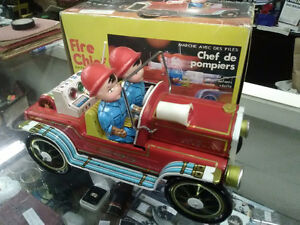 Vintage Tin Toy Fire Truck