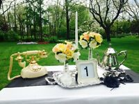 Vintage/Great Gatsby affordable wedding centerpieces for rent