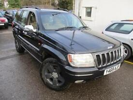 2001 JEEP GRAND CHEROKEE V8 LIMITED AUTOMATIC 4 X 4 4X4 PETROL