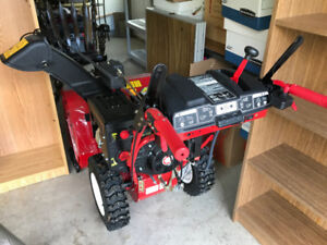 Troy-Bilt Three-Stage Snow Blower, barely used