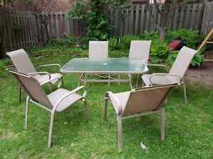 Patio dining set (table and six chairs) *tentatively sold*