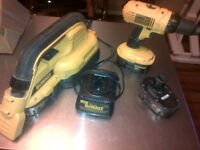 Dewalt Speed 18V Drill + Vacuum + 3 Strong Batteries + Charger