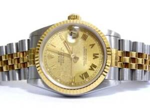 Rolex Oyster Gold Face Perpetual Datejust 29 Automatic Watch