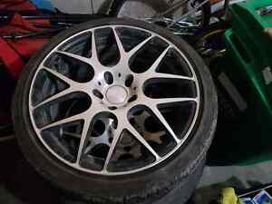 """18"""" fast rims with tires"""