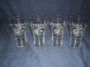 NHL 100th Anniversary Stanley Cup Glasses (4) - Limited Edition