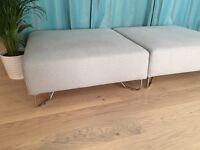 Two MUJI Unit Sofa Footstools