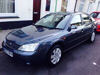 Ford Mondeo TDCI 2003 diesel hatch back.