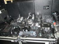 lots of dj lights dmx led laser controller mixer