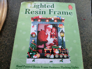 "NOW $10.00 Christmas ""3 DIMENSIONAL LIGHTED""  Picture Frame"