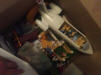 Box of playmobile
