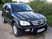 2004 54 Plate Black Mercedes-Benz ML270 2.7TD CDI auto Special Edition