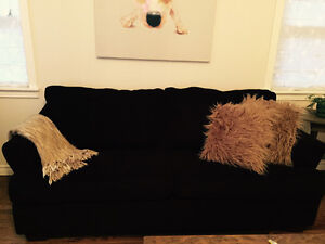 Chocolate brown couch