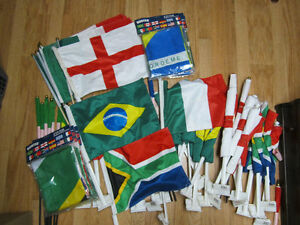 Italy Brazil England South Africa Brand New Car Flags
