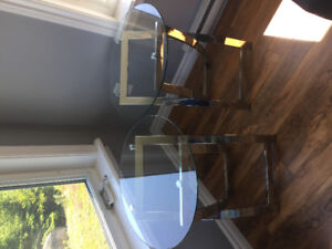 2 Tempered Glass End Tables.