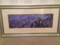 City scape picture framed, silver - Hong Kong