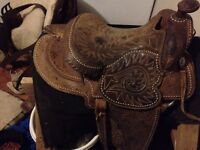 Beautiful Textan western saddle for sale