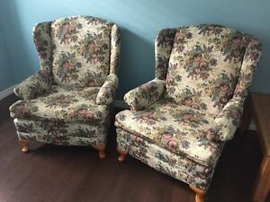 4 Wingback Chairs