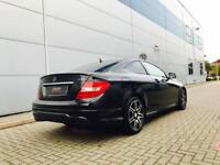 2012 62 MERCEDES BENZ C220 CDI AMG Sport Plus Coupe + BLACK + BLACK LEATHER