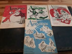 1956 Vintage Childrens Activities Magazines