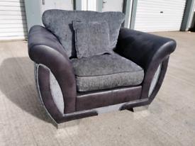 Dfs grey fabric Armchair 🚚