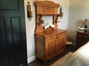 Antique East lake dining room hutch