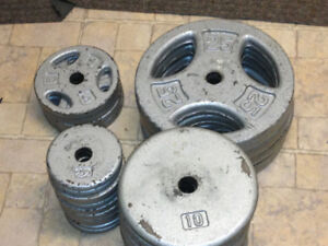 Weightlifting Plates, Dumbbells and Bars $290 obo