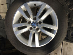 Tires (4) with VW mag rims for sale