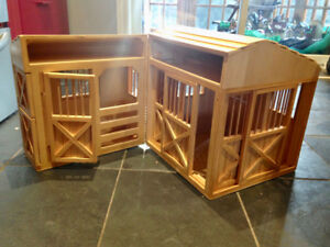 Large Wood Toy Barn (Melissa & Doug) for Breyer and other horses