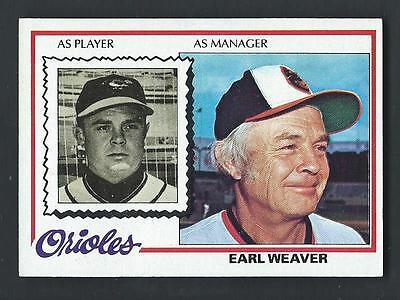 Earl Weaver 1978 Topps Card #211; NM-Mint; Baltimore Orioles