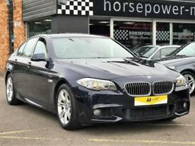 2012 BMW 5 Series 2.0 520d M Sport (Professional pack) 4dr Diesel blue Manual